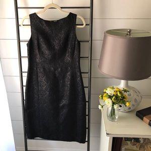Banana Republic Black Brocade Dress